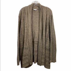 Avenue Plus Size Brown Open Front Cardigan…
